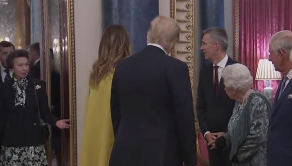 Los hechos ocurrieron durante la Organización del Tratado del Atlántico Norte (OTAN), hecho que reunió a varios líderes mundiales, como Trump. (Captura de Youtube)