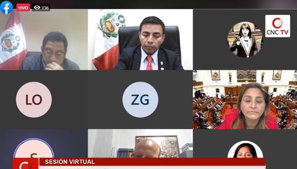 La Comisión de Ética Parlamentaria tomó importantes acuerdos en reservado . (Foto: Captura Congreso TV)