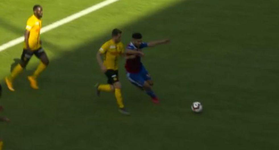 Carlos Zambrano fue expulsado a los 72' del partido ante Youg Boys. (Captura: YouTube)