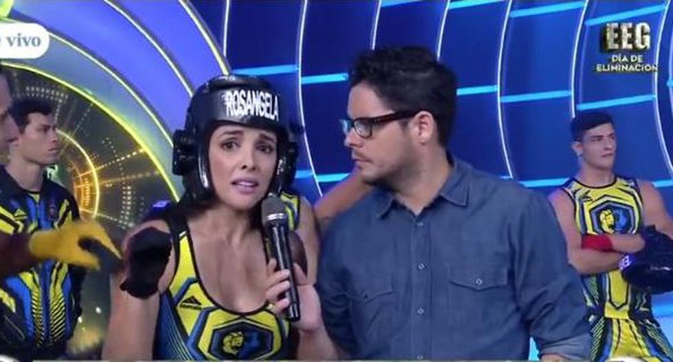 Rosángela Espinoza tuvo una discusión con Ivana Yturbe en 'Esto es guerra'. (Captura de TV)