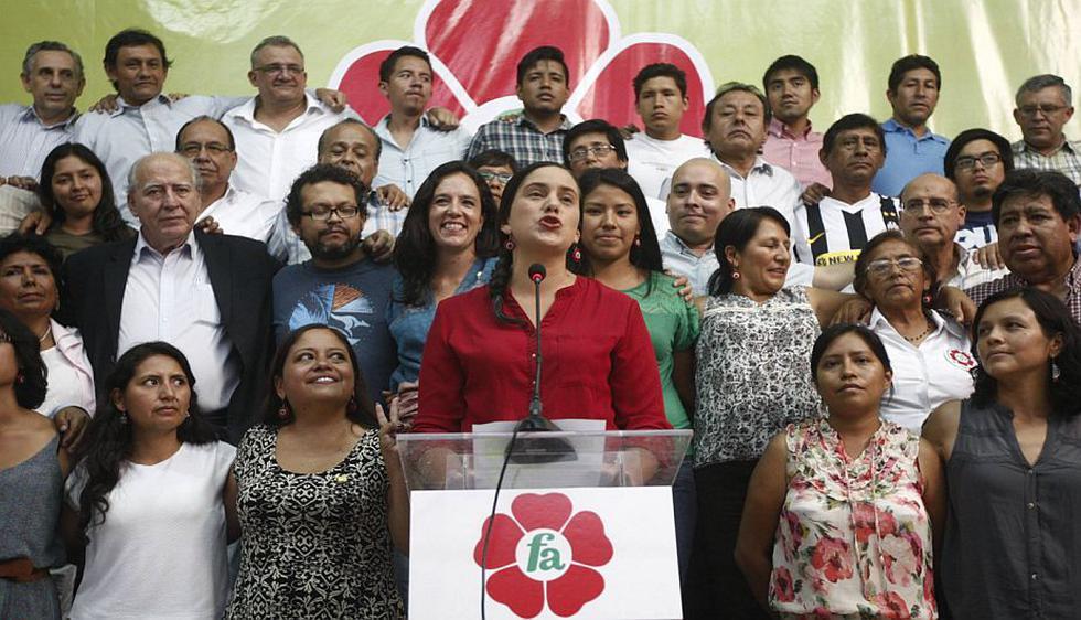 Verónika Mendoza se pronunció tras resultados electorales. (Renzo Salazar)