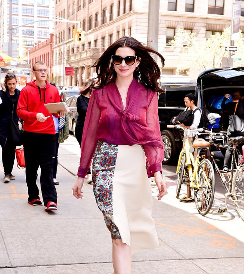 Anne Hathaway, ganadora del Oscar, decidió arriesgare y hacerse  un radical cambio de look que dejó a todos sin palabras.  (GETTY)
