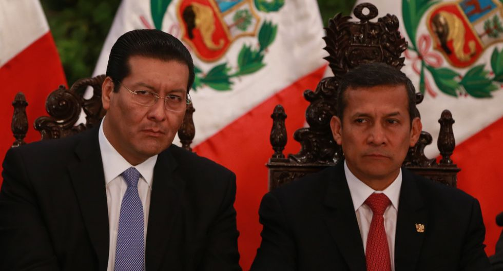 Carlos Paredes (izquierda) fue ministro de Ollanta Humala durante cuatro años (2011-2014).  (Lino Chipana/GEC)