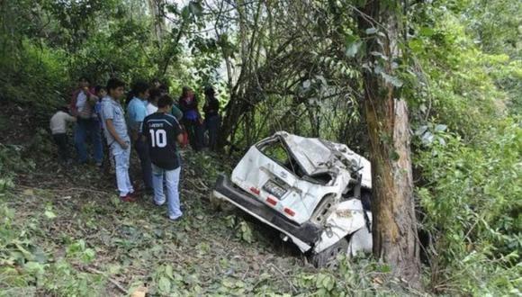 El chofer del vehículo abandonó la zona del accidente. (Foto: Difusión)