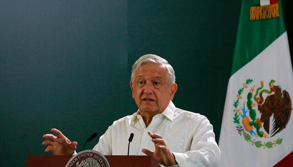 El presidente mexicano Andrés Manuel López Obrador durante una conferencia de prensa.. (Foto: Manuel López / EFE)