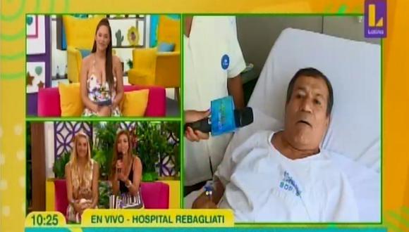 Miguel Barraza habla de su delicada intervención. (Foto: Captura Latina)