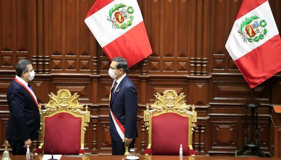 Manuel Merino lanzó nuevas acusaciones contra Martín Vizcarra. (Foto: Presidencia)