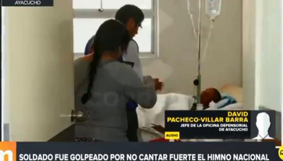 La víctima, identificada como Roy Fredy Azpur Luján, fue llevada de emergencia al Hospital de Apoyo de Jesús Nazareno. (RPP Televisión)