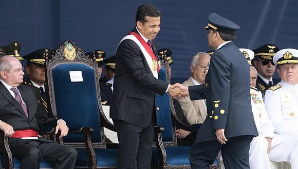 Humala participó en la ceremonia por el Día de la Fuerza Aérea del Perú. (David Vexelman)