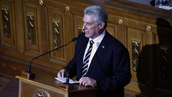 Díaz-Canel culpó al embargo de Estados Unidos de muchas de las dificultades que enfrentan los ciudadanos en Cuba. (Foto: AFP)