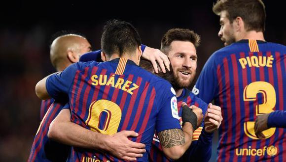 Si Barcelona vence a Levante conquistará su octavo título liguero en once años. (Foto: AFP)