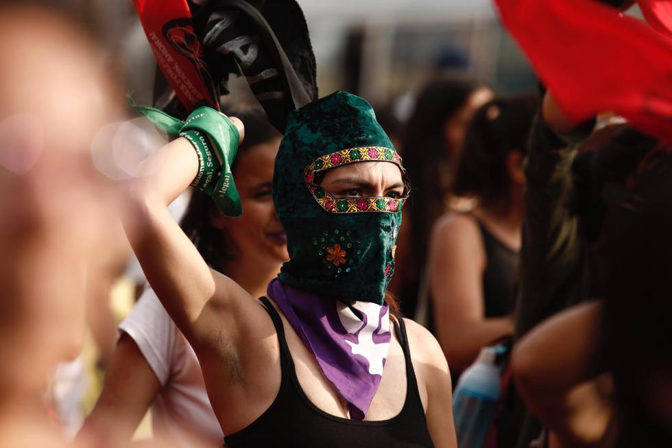 Diferentes colectivos feministas participan de la jornada #8M 'Trabajadoras sí, explotadas y violentadas no'. (Leandro Britto/GEC)
