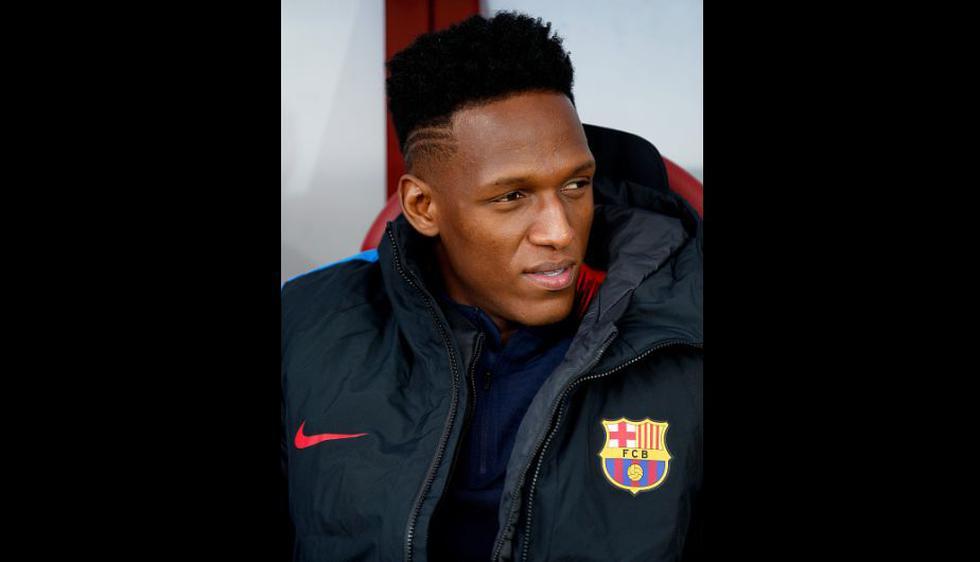 Yerry Mina viajó a Londres, pero no tuvo minutos en el encuentro por Champions League. (Getty Images)