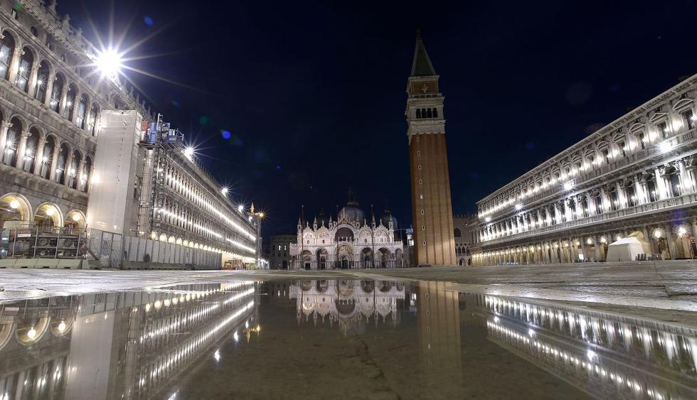 Histórica Basílica de San Marcos enfrenta costosa limpieza tras inundación en Venecia. (Foto: AFP)
