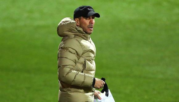 Diego Simeone se rinde ante el buen nivel de Luis Suárez (Foto: EFE)