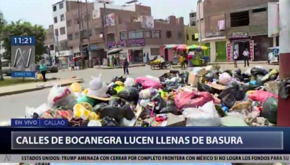 Vecinos de la Prolongación Avenida Perú son perjudicados con la acumulación de basura en sus calles. (Foto: Captura Canal N)