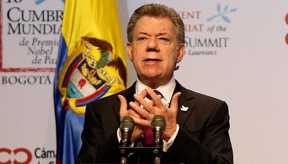 """""""Nuestra solidaridad con Perú por la tragedia"""", escribió Juan Manuel Santos. (EFE)"""