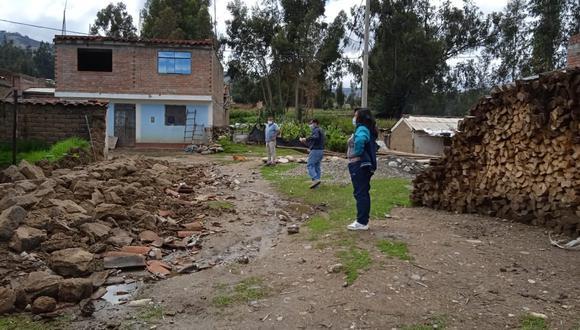 Áncash: Cerco de ladrillos de un colegio quedó derrumbado por las intensas lluvias (Foto: COER)