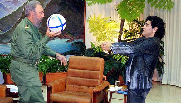 Diego Maradona lamentó muerte de Fidel Castro. (Reuters)