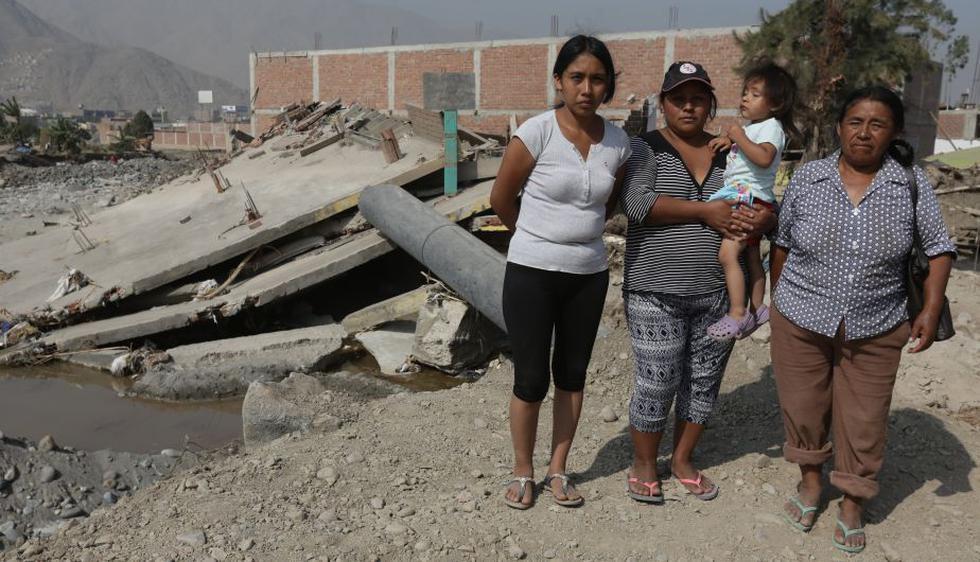 Así quedó la casa de la familia Hilario tras el desborde del río Rímac, en Carapongo. (Anthony Niño de Guzmán)