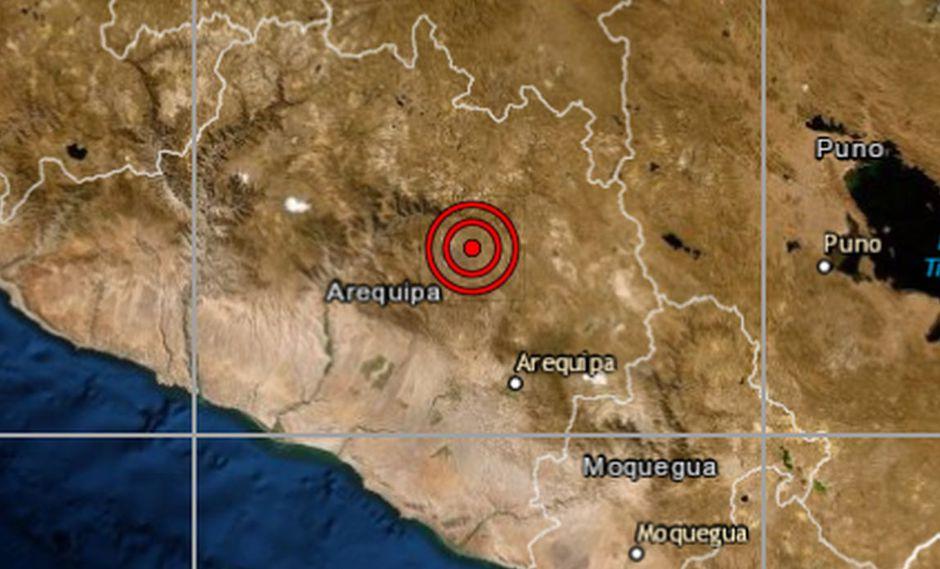 El sismo más reciente se reportó alas 9:05 a.m. (Foto: IGP)