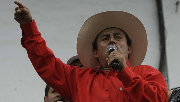 Gregorio Santos señala que las protestas continuarán a pedido de las comunidades. (USI)