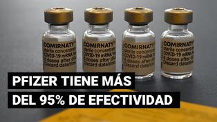 Según estudio, la vacuna de Pfizer tiene más del 95% de efectividad frente a la COVID-19