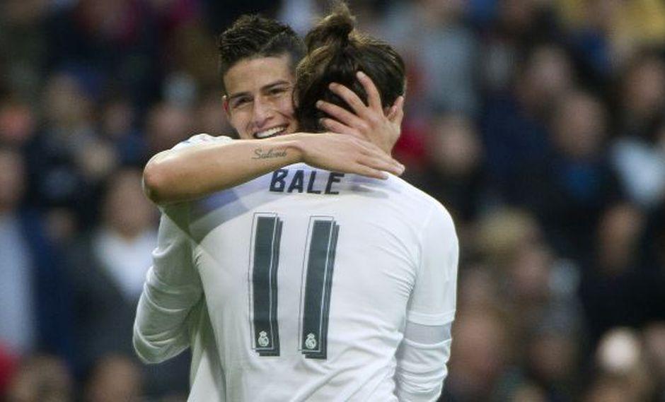 James Rodríguez y Gareth Bale serán tomados en cuenta por Zinedine Zidane. (Foto: AFP)