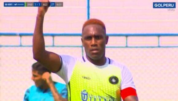 Luis Tejada anotó el gol del 1-1 ante Alianza Lima. (Captura: Gol Perú)