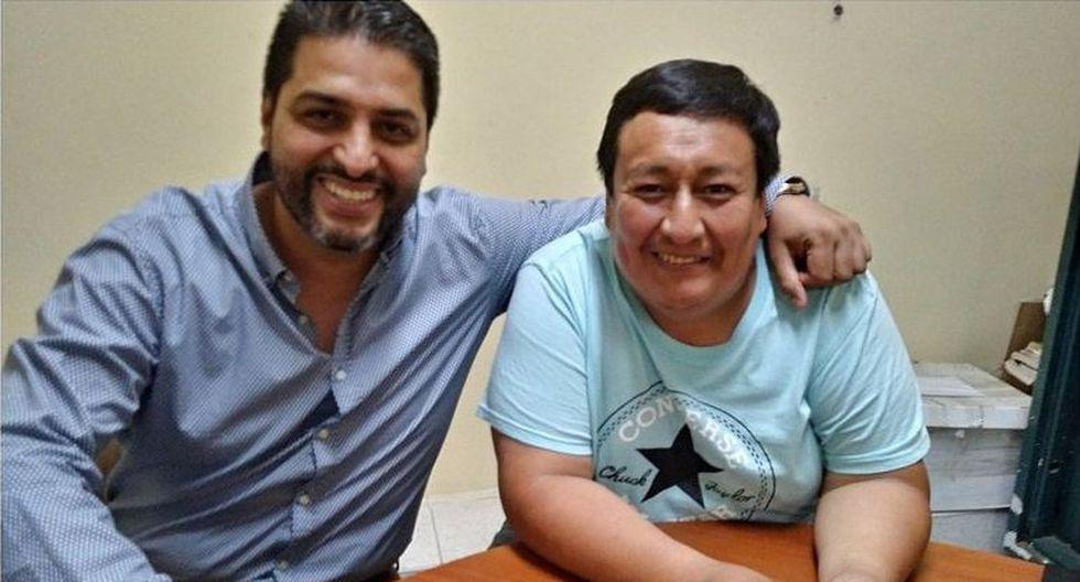 Luis Carlos Santa María y Paúl Rodríguez en épocas felices.