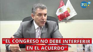 """Fiscal Vela: """"El congreso no debe interferir en el acuerdo"""""""