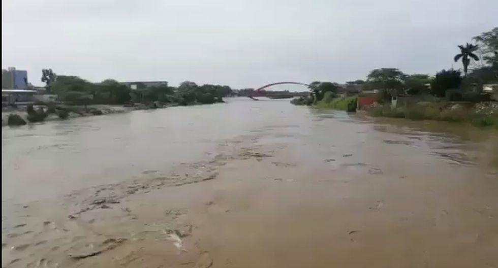 Puente Cáceres en el Río Piura. (Leo Mauricio/Perú21)