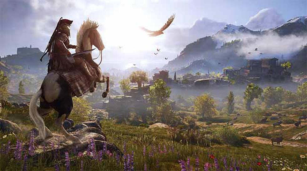 Assassins Creed Odyssey también llegará a las consolas de PS4 y Xbox One.