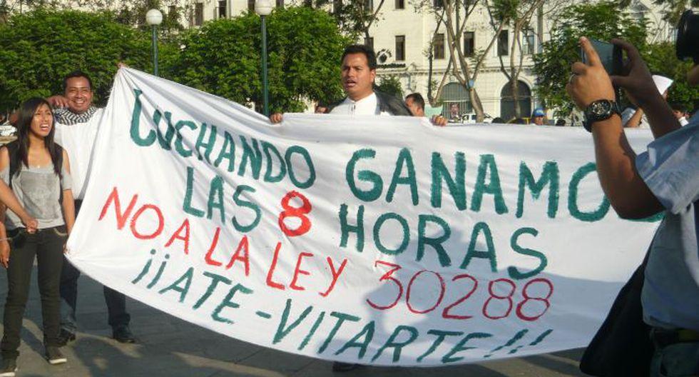 Régimen laboral juvenil: Policía Nacional acompañará a los manifestantes, manifestó Daniel Urresti. (Chinn De La Cruz/Perú21)