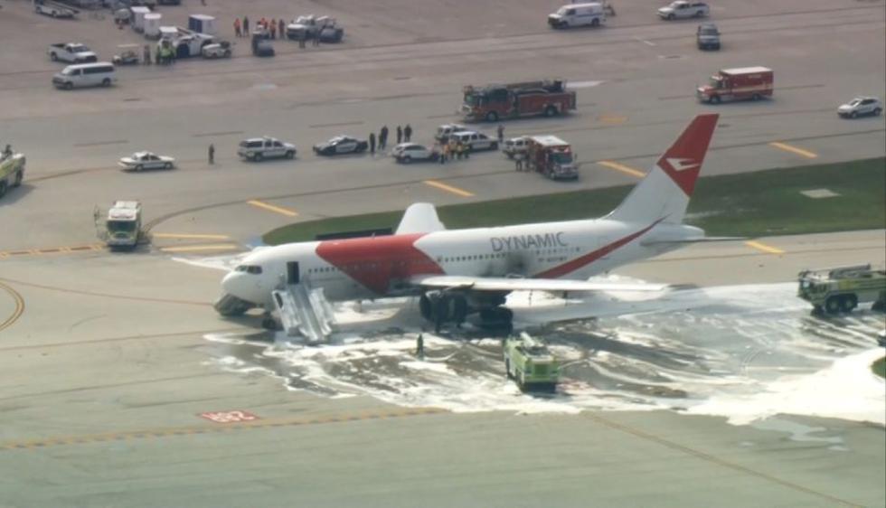 Fort Lauderdale: Avión se incendió en aeropuerto de Florida. (Univisión)
