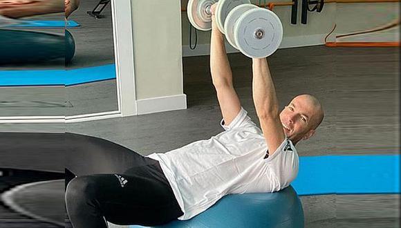 El duro entrenamiento de Zinedine Zidane en plena cuarentena. (Foto: Instagram)