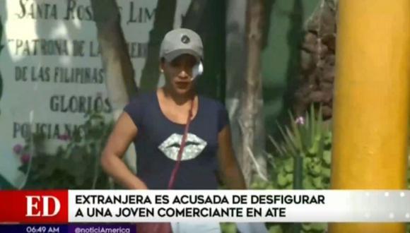 Yanela Cuadrado denunció por agresión a venezolana. (Captura/AméricaTV)