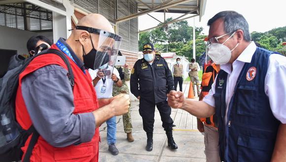 Ministro del Ambiente llega para reunirse con autoridades de Madre de Dios y ayudar a damnificados (Foto: Gore Madre de Dios)