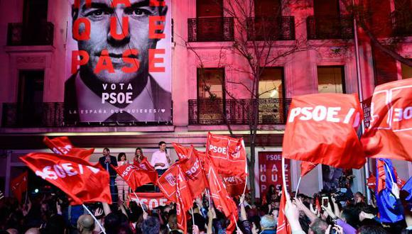 El PSOE de Pedro Sánchez ganó las elecciones en España, pero necesitará pactar con otras formaciones para gobernar. (Foto: AFP)