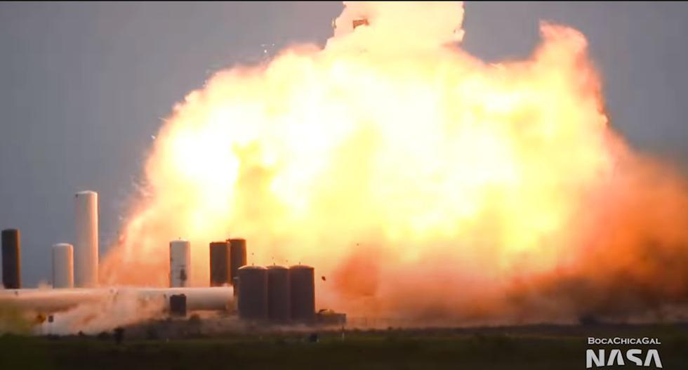 Sigue la mala racha para SpaceX. La nave Starship SN4 de SpaceX, que llevará astronautas a Marte, estalló durante las pruebas. (YouTube)