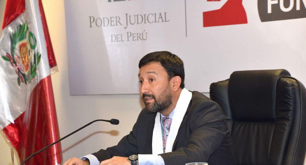 Juez Manuel Chuyo del Tercer Juzgado de Investigación Preparatoria del Sistema Especializado en Corrupción encabezó la audiencia. (@Poder_Judicial_)
