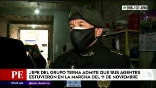 Jefe de Grupo Terna confirma que agentes estuvieron en la marcha del 11 de noviembre