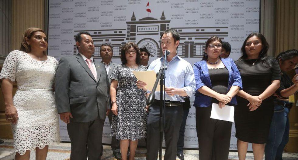 Kenji Fujimori: Bloque del congresista fue reubicado en el Congreso de la República.