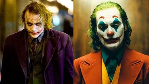 Las diferencias entre el Guasón de Joaquin Phoenix y el de Heath Ledger. (Foto: Warner Bros.)