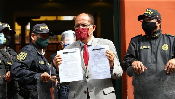 Luis Huerta, procurador en temas constitucionales del Ministerio de Justicia, presentó la demanda contra la moción de vacancia ante el TC. (Foto: GEC)