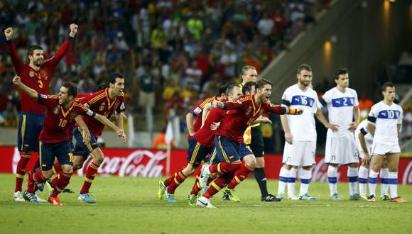 Jesusito de mi vida. Navas le dio la clasificación a España. (Reuters)