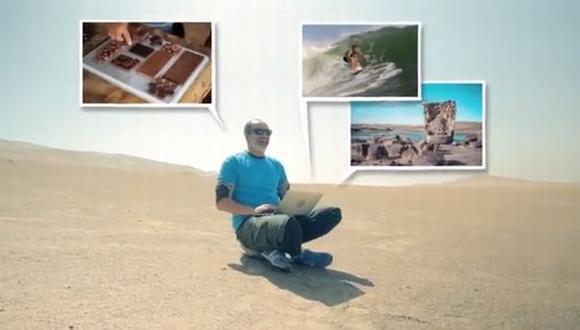 Carlos Alcántara enseña cómo participar en la campaña. (YouTube)