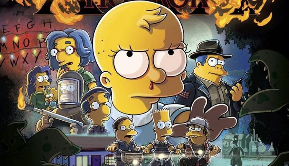 Los Simpson parodian a Stranger Things en la promoción de su especial de Halloween. (Foto: Fox)