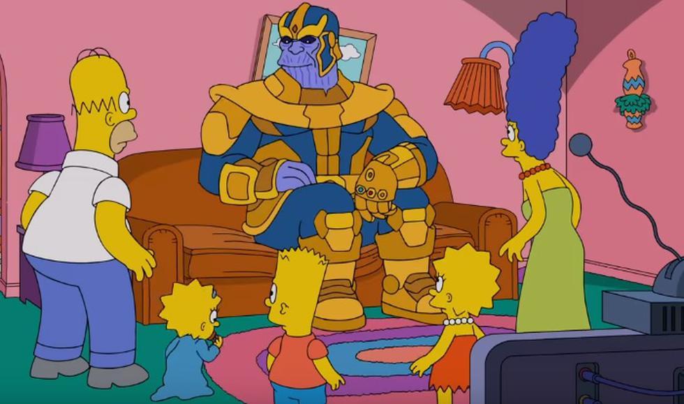 El villano Thanos acaba de hacer su aparición en la serie Los Simpson.