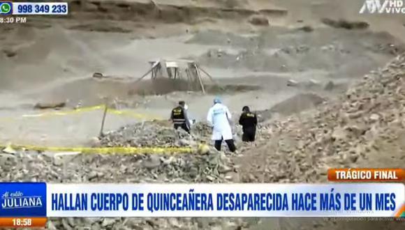 La Policía cercó la zona para hallar alguna evidencia que ayude a esclarecer el crimen de la adolescente de 15 años. (ATV)